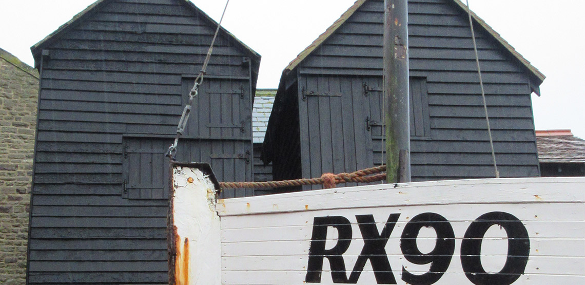 Fisherman's huts and boat