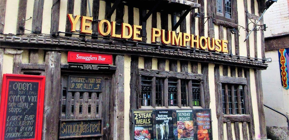 Ye Olde Pumphouse pump in Hastings