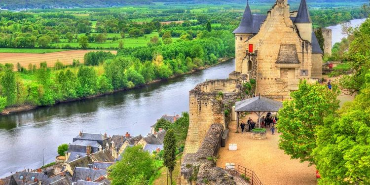 Loire River with castle
