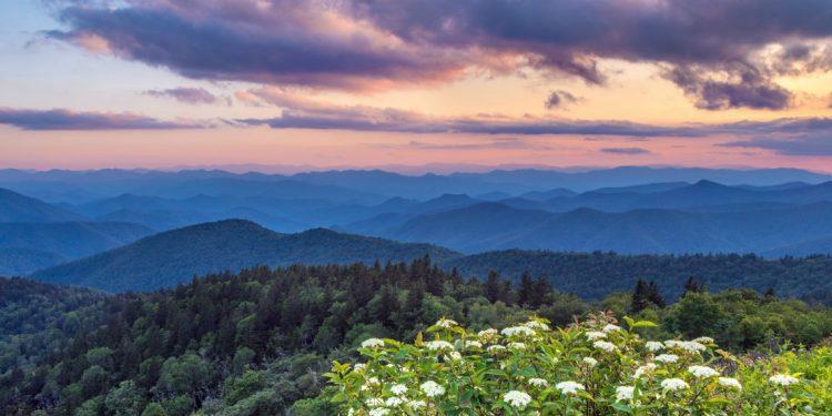 Mountains along the Appalachian Trail