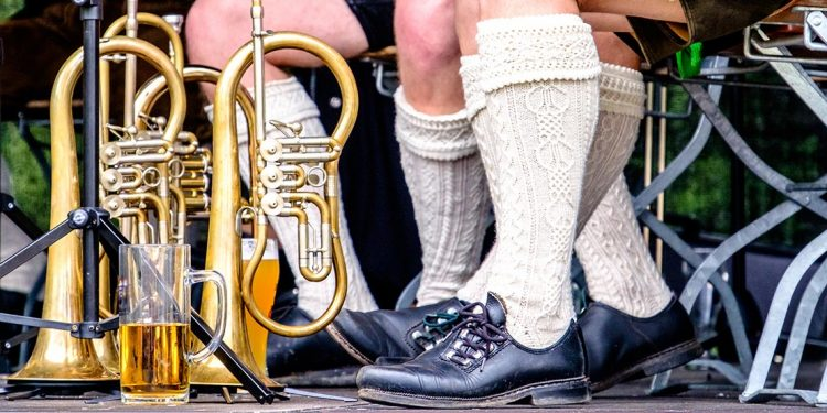 Bavarian socks, instruments and beer