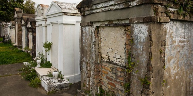 Tombstones at St. Louis Cemetery in New Orleans
