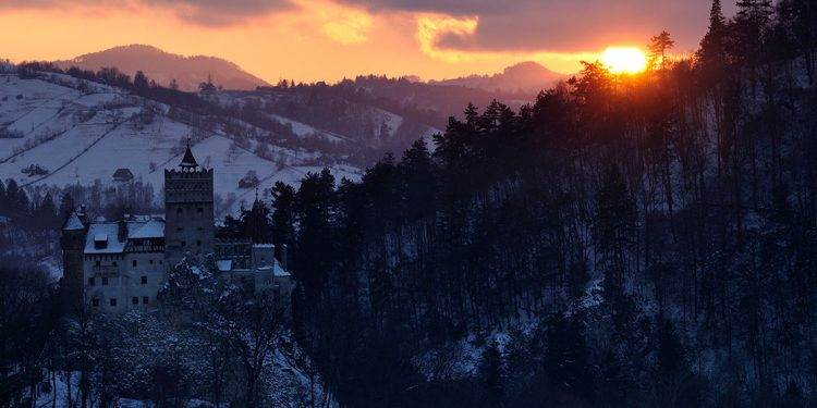 Bran Castle in wintertime