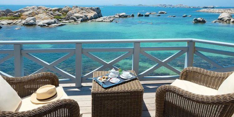 Balcony overlooking the Mediterranean Sea