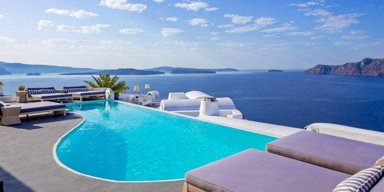 Pool by the Aegean Sea