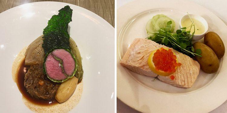 Lamb farikal and salmon