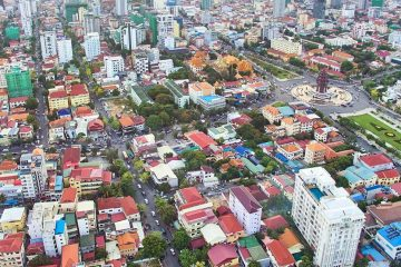 Overhead view of Phnom Penh