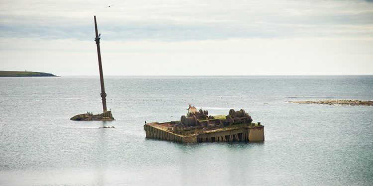 Shipwreck at Scapa Flow