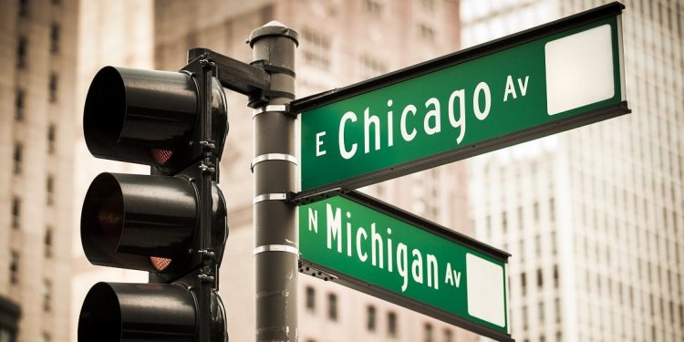Magnificent Mile Street Sign in Chicago