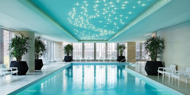 Indoor pool at the Langham