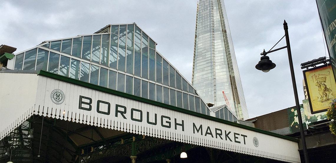 Sign for Borough Market