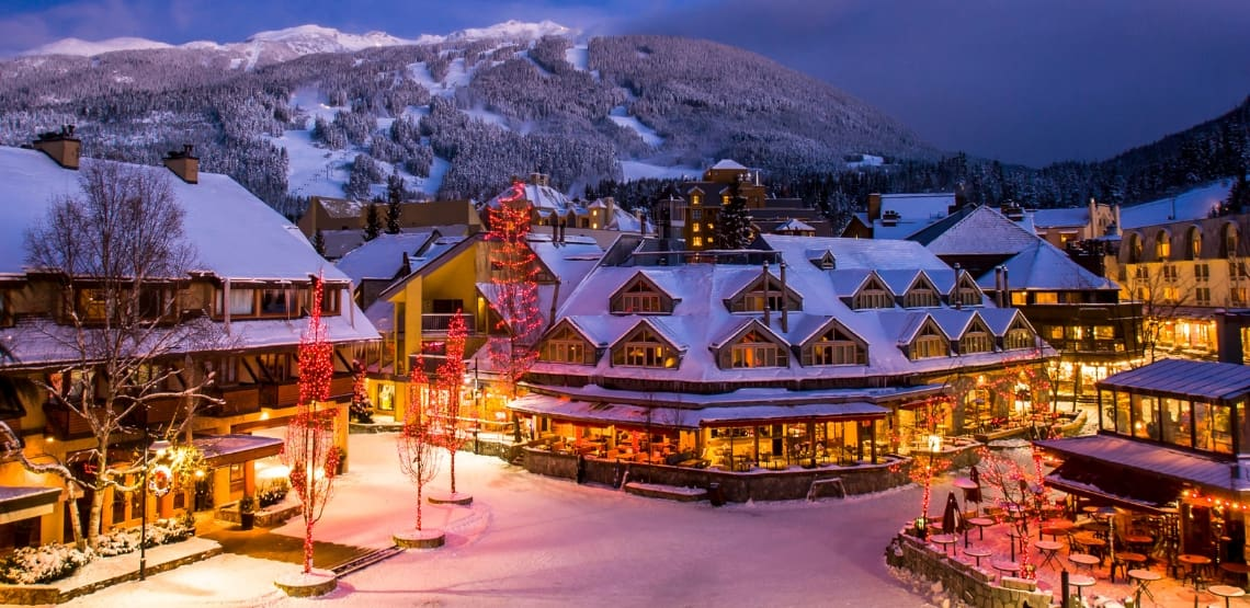 View of the Town Square - Whistler