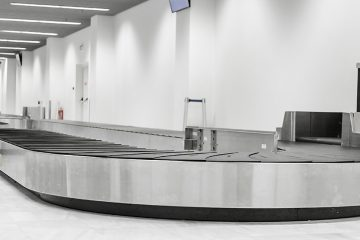 Empty luggage conveyor at the airport