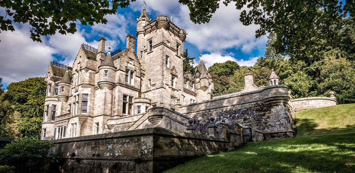 Exterior of Kinnettles Castle