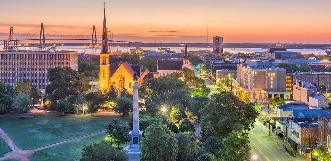 Overlooking Charleston, South Carolina