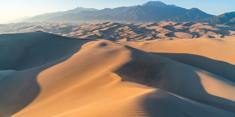 Looking out over Great Sand Dunes National Park