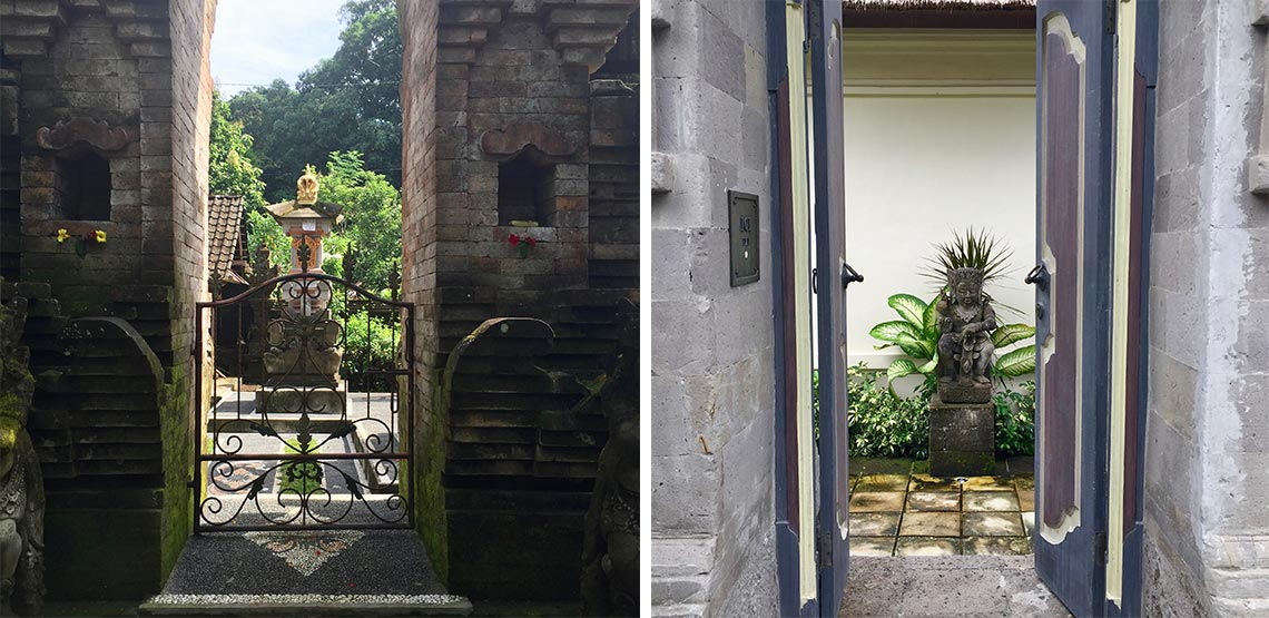 Statues behind doors