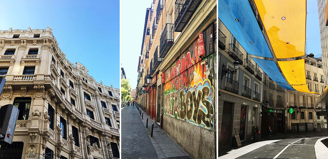 Buildings in Madrid