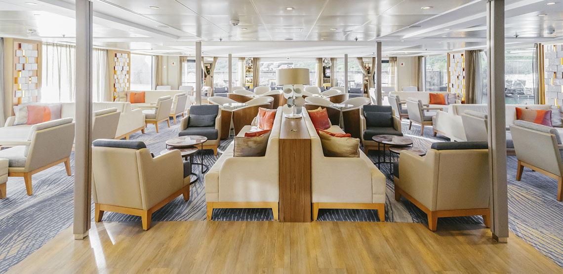 Lounge on board a cruise ship.