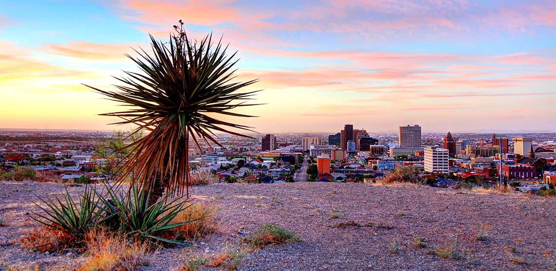 Desert view of city