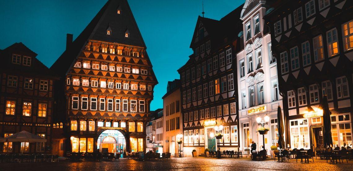 Germany at night.
