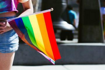 A pride flag.