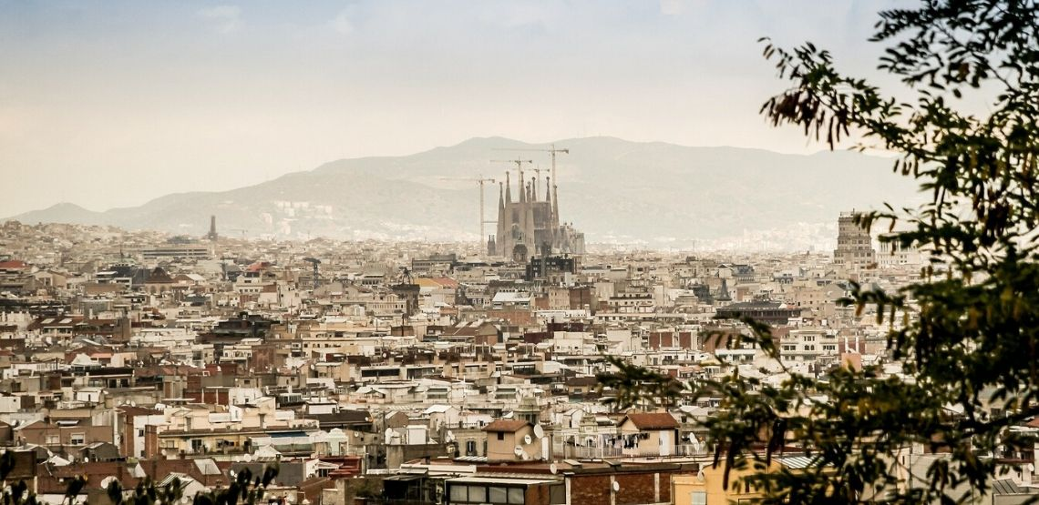 Barcelona landscape.