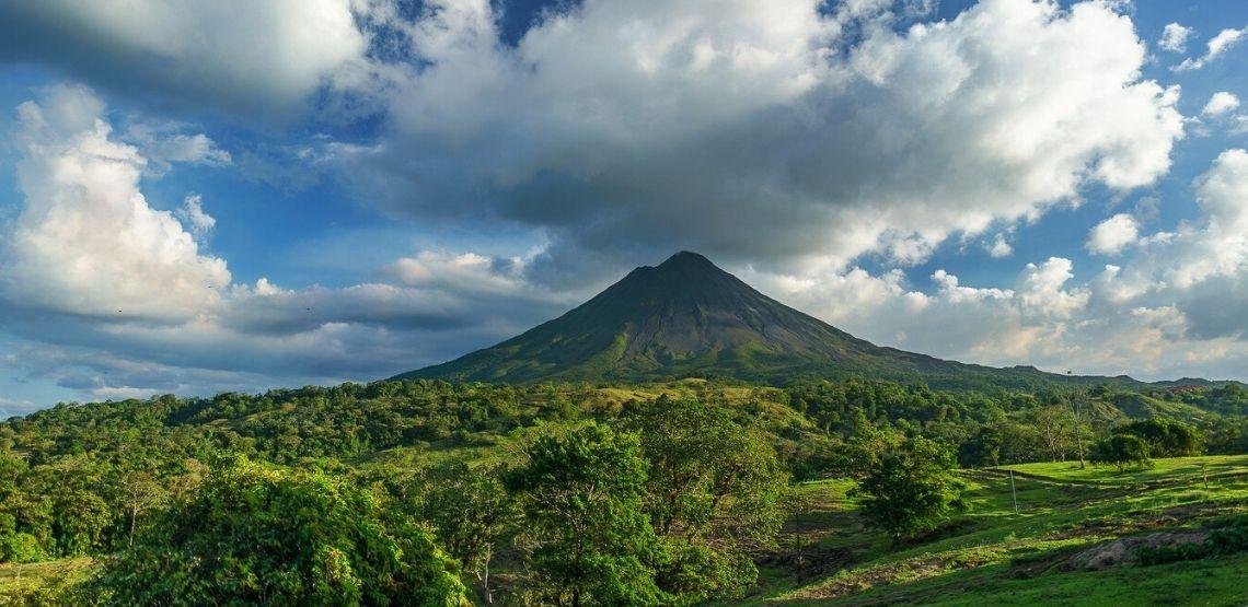 A volcano in Costa Rica.