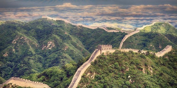 The Great Wall of China landscape.