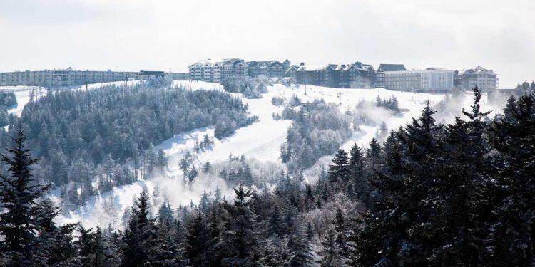 A ski resort in Showshoe, West Virginia.